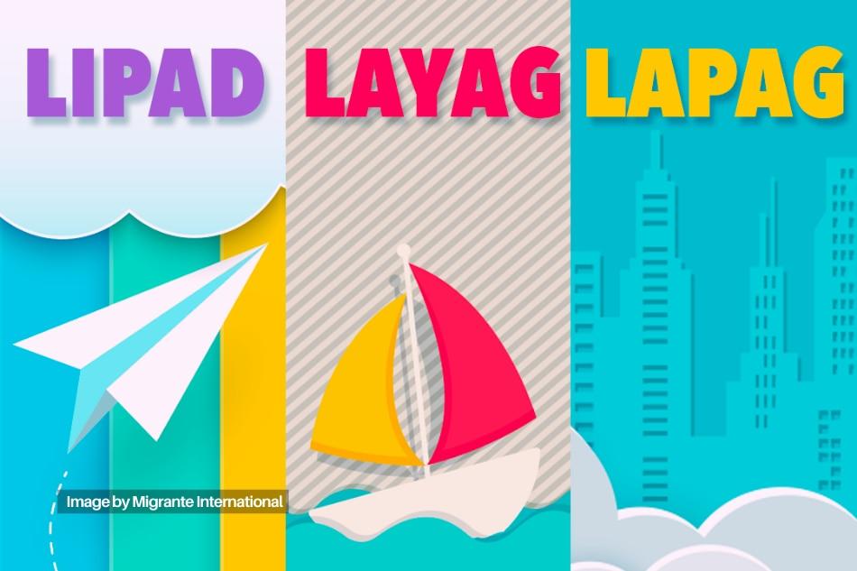 Lipad, Layag, Lapag