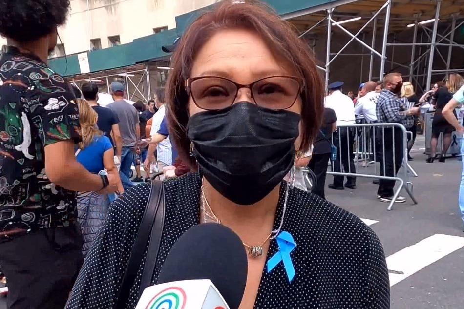 Sheila Tamayo-Punzalan, sister of 9/11 victim Hector Rogan Tamayo.
