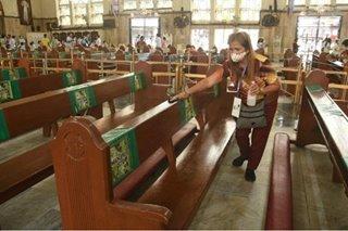 TINGNAN: Sanitation at disinfection sa Quiapo Church sa pista ng Poong Nazareno