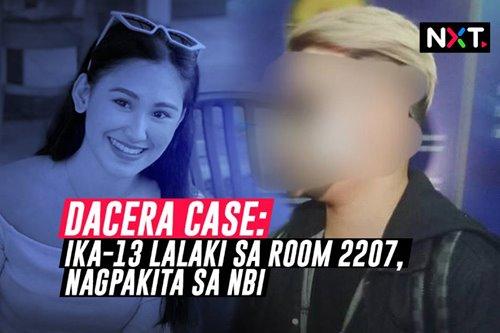 Dacera Case: Ika-13 lalaki sa Room 2207, nagpakita sa NBI