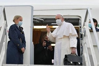 Pope Francis arrives in Baghdad for risky, historic Iraq tour