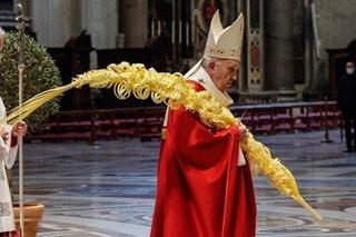 Pope Francis leads Palm Sunday Mass