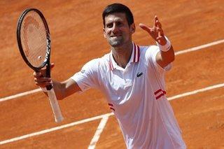 Tennis: Djokovic survives Tsitsipas scare to advance to Rome semi-finals