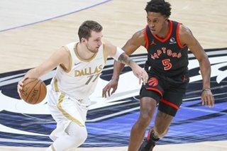 NBA: Luka Doncic's triple-double helps Mavs hold off Raptors