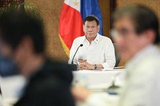 Duterte wants aides to 'finish story' at Senate probe