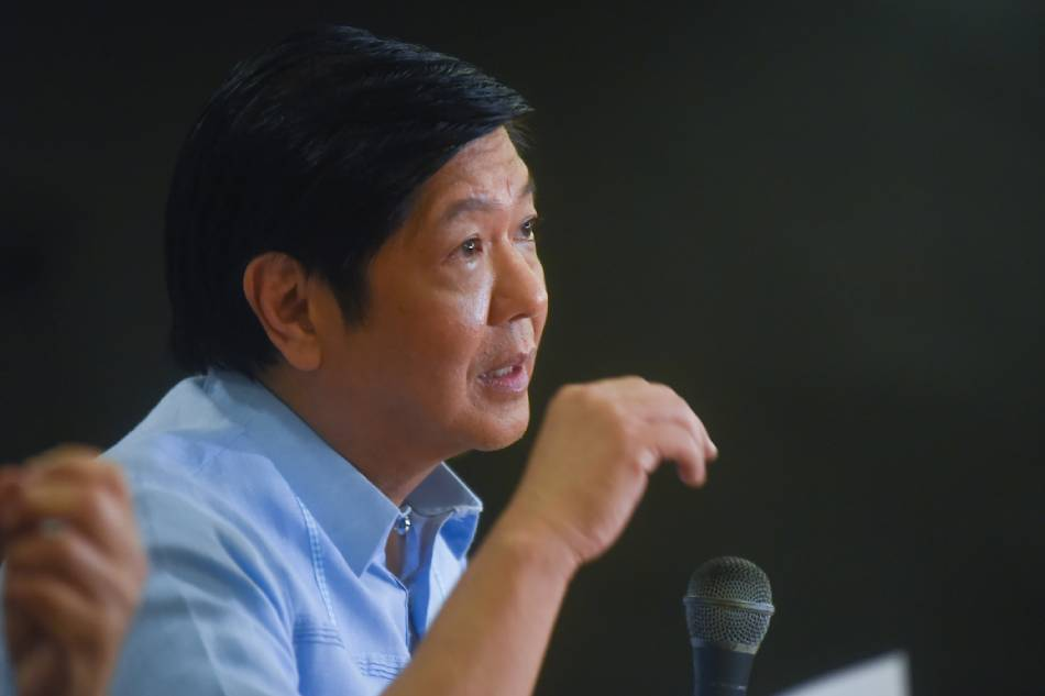 Former senator Bongbong Marcos talks to the media on Aug. 6, 2018. George Calvelo, ABS CBN News/File