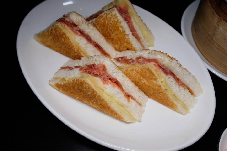 Bikini Sandwich with Jamon Serrano and Manchego Cheese. Jeeves de Veyra