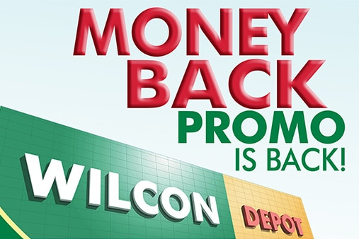 Wilcon's Money Back promo is back!