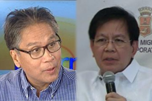 Image result for images for ping lacson with mar roxas