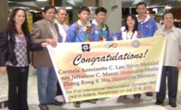 Math champions back home with medals | ABS-CBN News