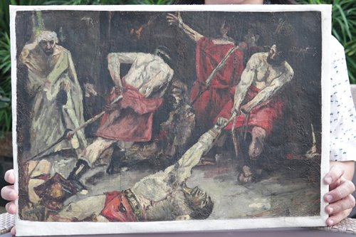 This whole thing about the Spoliarium is like the Spoliarium itself