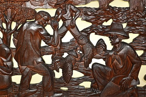 This epic-scale wood carving by Jose Alcantara has finally come out of hiding