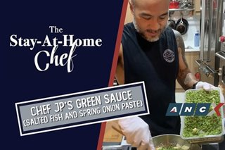 How to make Chef JP Anglo's all-purpose Green Sauce that's an ulam in itself | The Stay-at-Home Chef