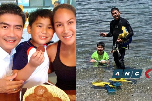 Cooking, gardening, and even snorkeling is how this father spent ECQ with his son