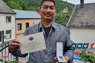 From dishwasher to 'the good life': meet the Pinoy who got a medal from the Duke of Luxembourg
