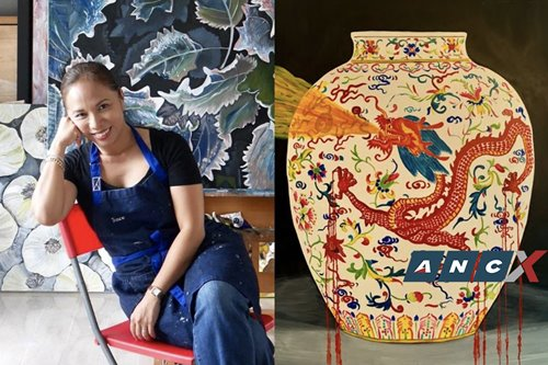 Tracie Anglo-Dizon's paintings of defaced ceramics reflect the fragile objects we've become