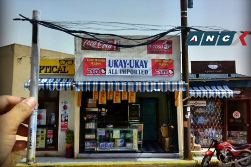 This OFW battles homesickness by making dioramas of Philippine street scenes