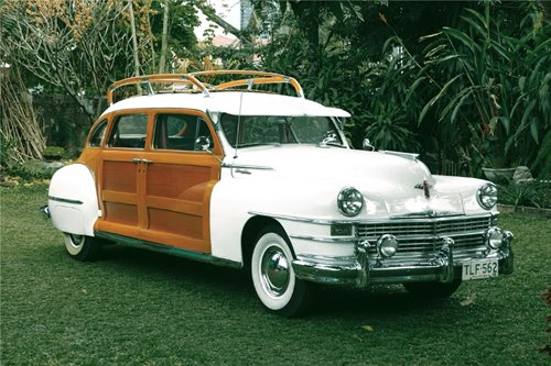 How this '47 Town & Country wagon found new life as bridal car