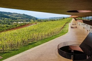 "This Tuscan winery has an ""invisible building"" where the roof is a vineyard"