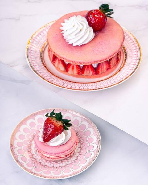 Vizco's Strawberry Macarons