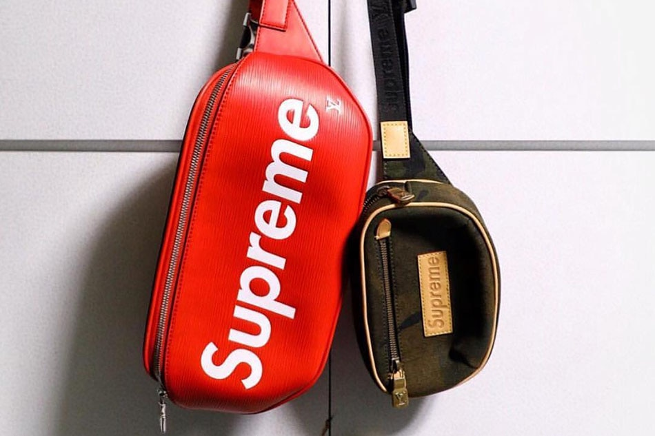 291115a09 Louis Vuitton x Supreme Bumbag Epi Red and Bumbag PM. Photograph from  @shvxdy on Instagram