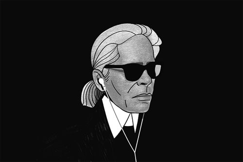 Karl Lagerfeld: lover of fashion, starched collars, and iPods