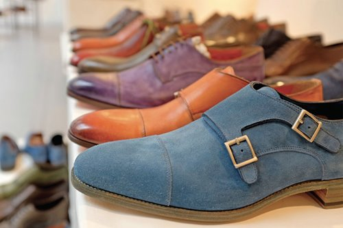 We visited the Santoni workshop in Italy to learn how they make their handmade shoes