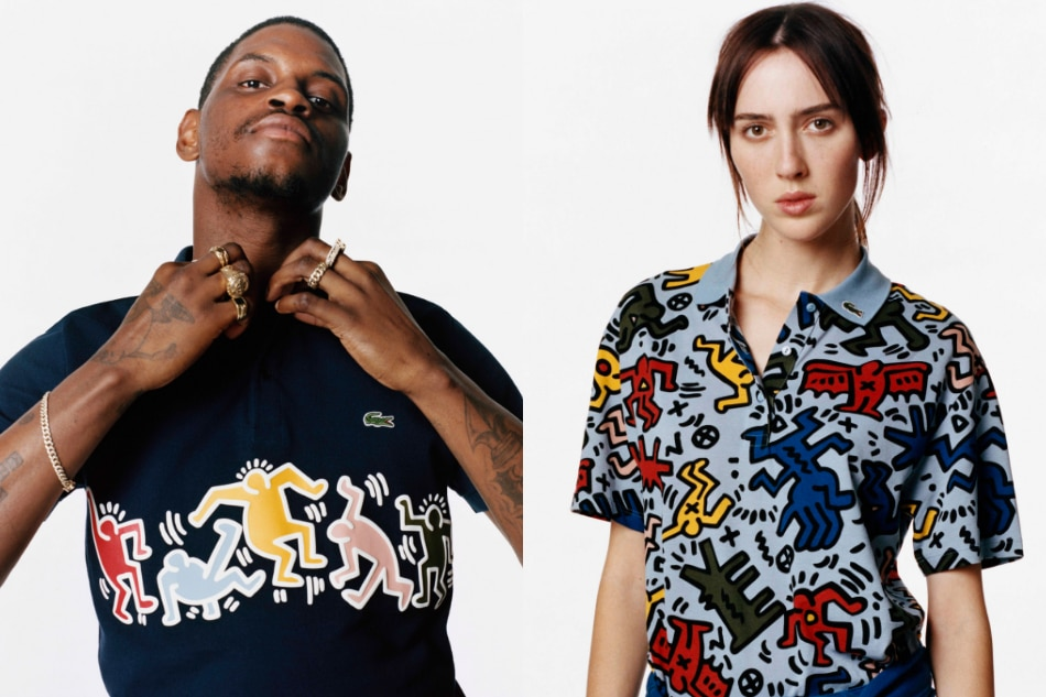 1b2b51ca32157f Lacoste honors Keith Haring, the visionary who defined the New York pop art  scene | ABS-CBN News