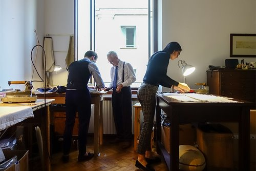 The family home doubles as a tailoring shop for this low-key but highly admired Milanese family