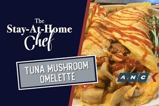 This Tuna Mushroom Omelet by Chef JP is a meal on its own | The Stay-ay-Home Chef