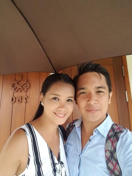 Danilo VIllanueva Jr. with wife