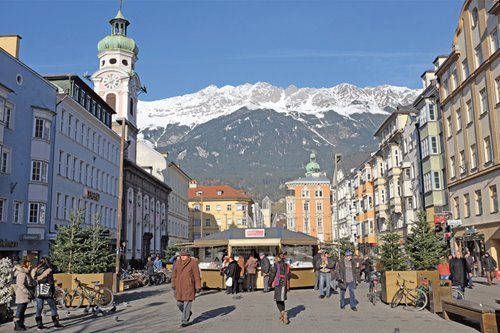 Christkindlmarkt No.2: the sinister figures and snowcapped mountains of Austria, Innsbruck
