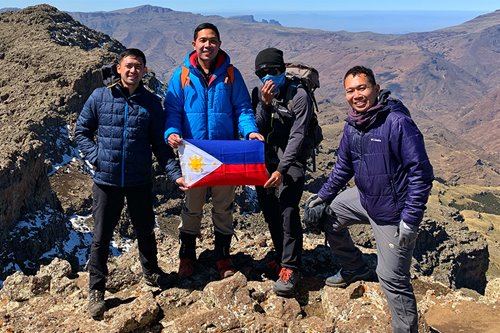 These hikers planted what might be the first PH flag on the summit of Ethiopia's highest peak