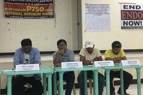 Caraga labor groups press P750 national minimum wage