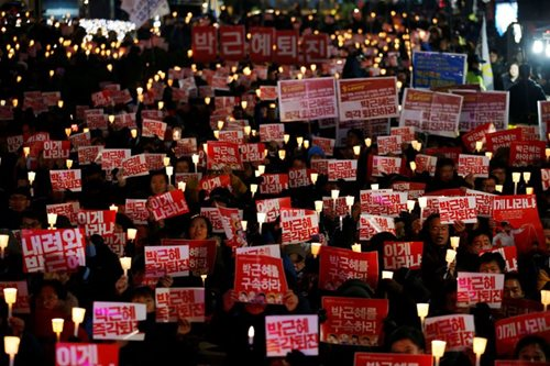 Mass anti-Park protest in Seoul ahead of impeachment vote