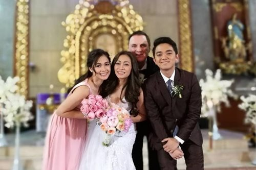 Maja happy for her newly-wed mom