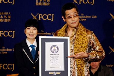 'Pen-Pineapple-Apple-Pen' sets Guinness world record