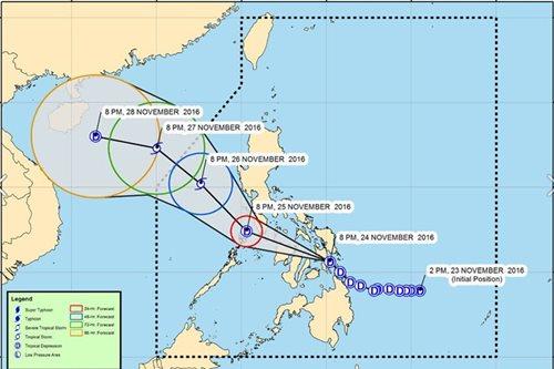 'Marce' maintains strength over Leyte