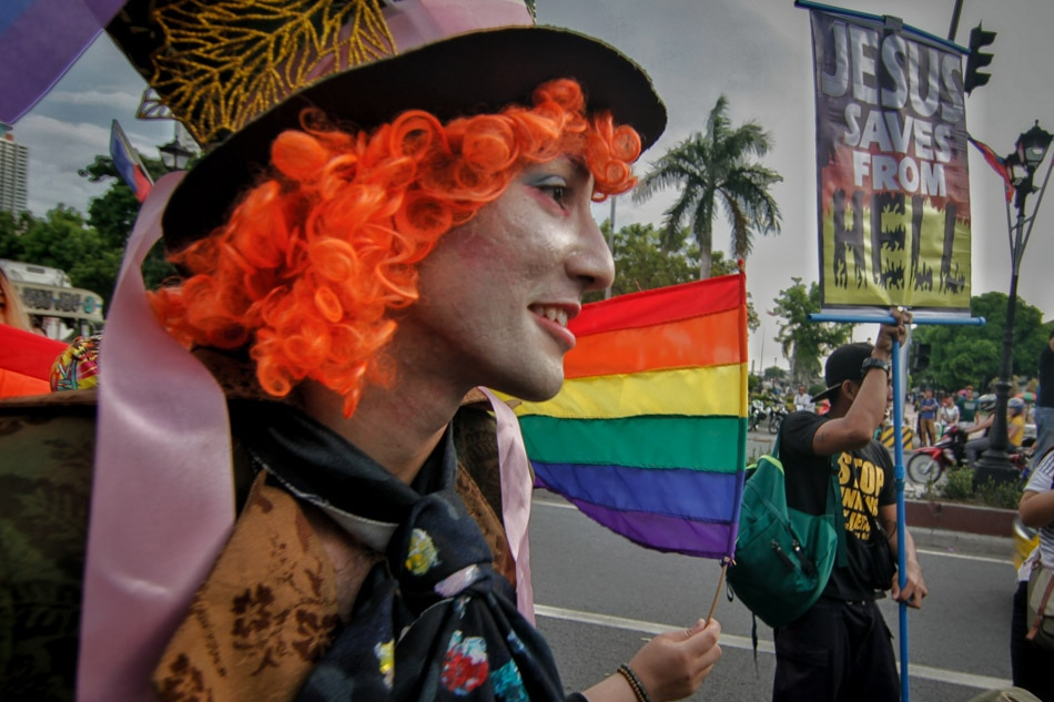 Gay Pride parade in Manila;