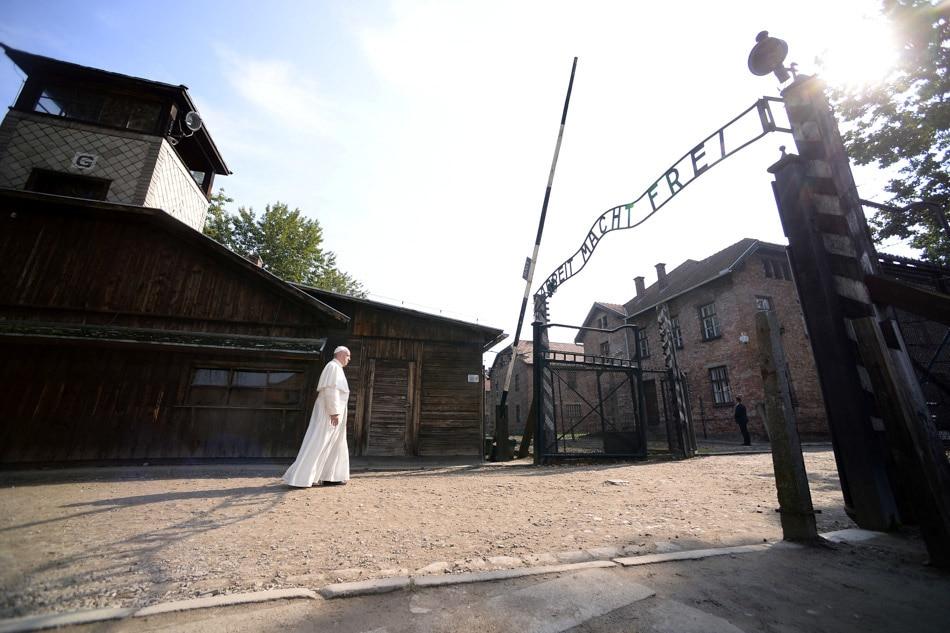 Pope Francis visits Nazi camp;