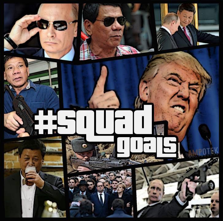 squadgoals 1 pinoys poke fun at trump, duterte, putin, xi squadgoals abs cbn news
