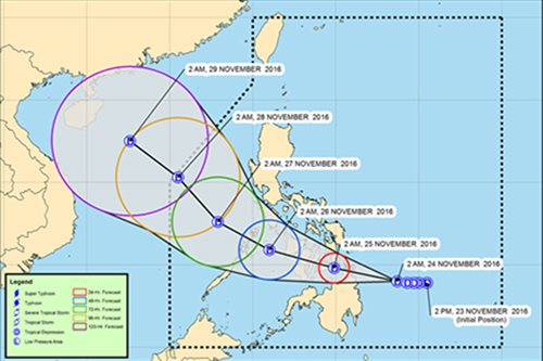 Tropical depression to make landfall in Surigao