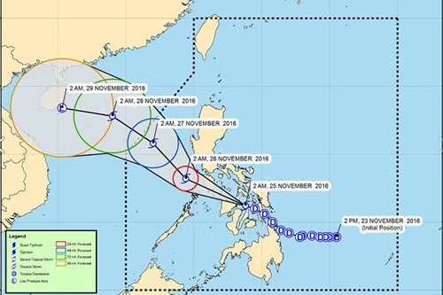 Signal 2 up in 9 areas as 'Marce' intensifies into tropical storm