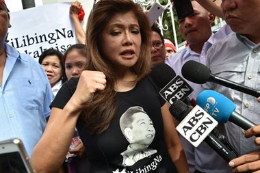 Imee Marcos: Only 'soldier's burial,' not state funeral, for dad