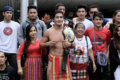 LOOK: MMA champion Eduard Folayang feted with parade in Baguio