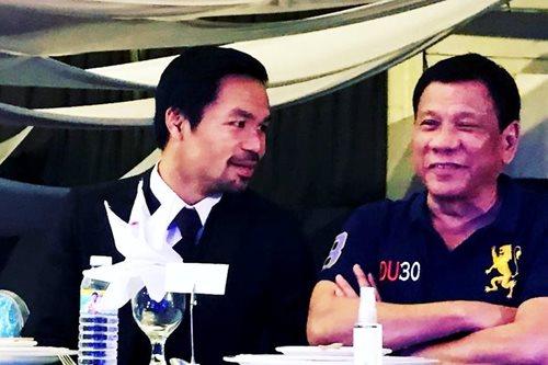 Pacquiao non-committal after Duterte's endorsement