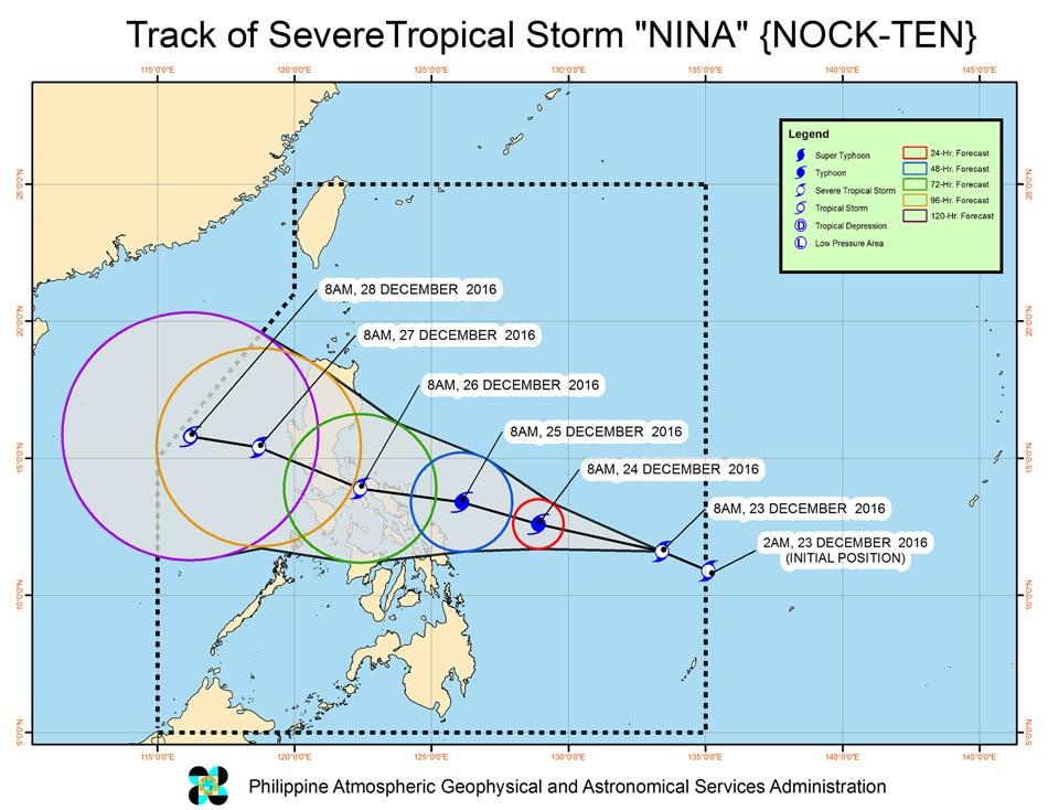 'Nina' to affect Metro Manila on Christmas Day, may turn into typhoon 1