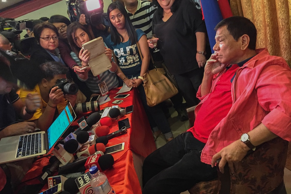 Duterte firm on shunning media, says spokesman