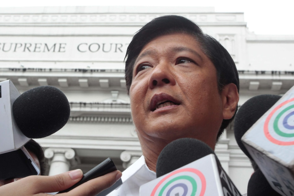 Marcos son claims 3-M votes lost to fraud, tags Aquino gov't