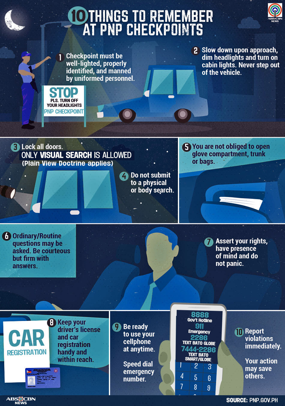 10 things to remember at PNP checkpoints | ABS-CBN News
